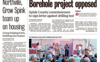 Pop ROCKS on the front page of the Aberdeen South Dakota paper!